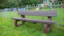 Colne Bench 4 Seater Robust Maintenance-Free Long lasting Recycled Plastic Alternative to wood