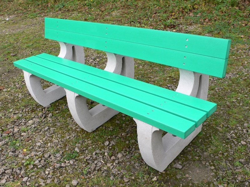 Colne 4 Seater Sports Leisure Bench Recycled Plastic