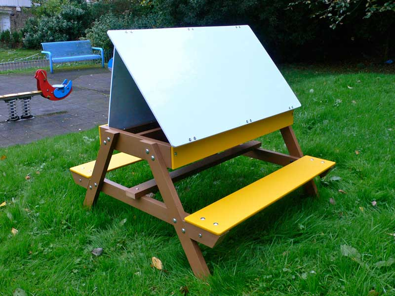 Children's Convertible Art Easel | Picnic Table Combo 3-8 years Education