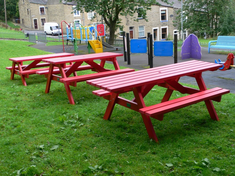 recycled plastic playground furniture education