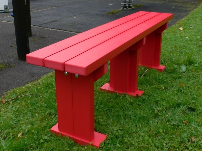 Derwent Seat Bench Recycled Plastic Wood Education