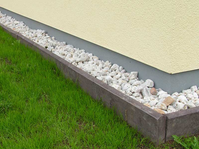 Recycled Plastic Landscaping Timbers : Recycled mixed plastic border edging kerb stone mm