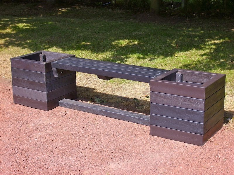 Ribble Planter Bench Recycled Plastic Kedel Co Uk