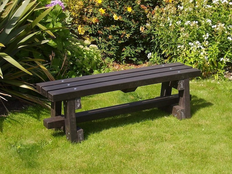 Ribble bench without backrest recycled plastic kedel co uk