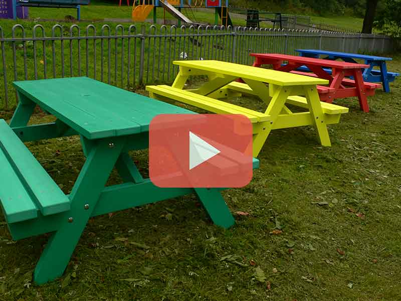 Derwent Junior School Picnic Table Recycled Plastic