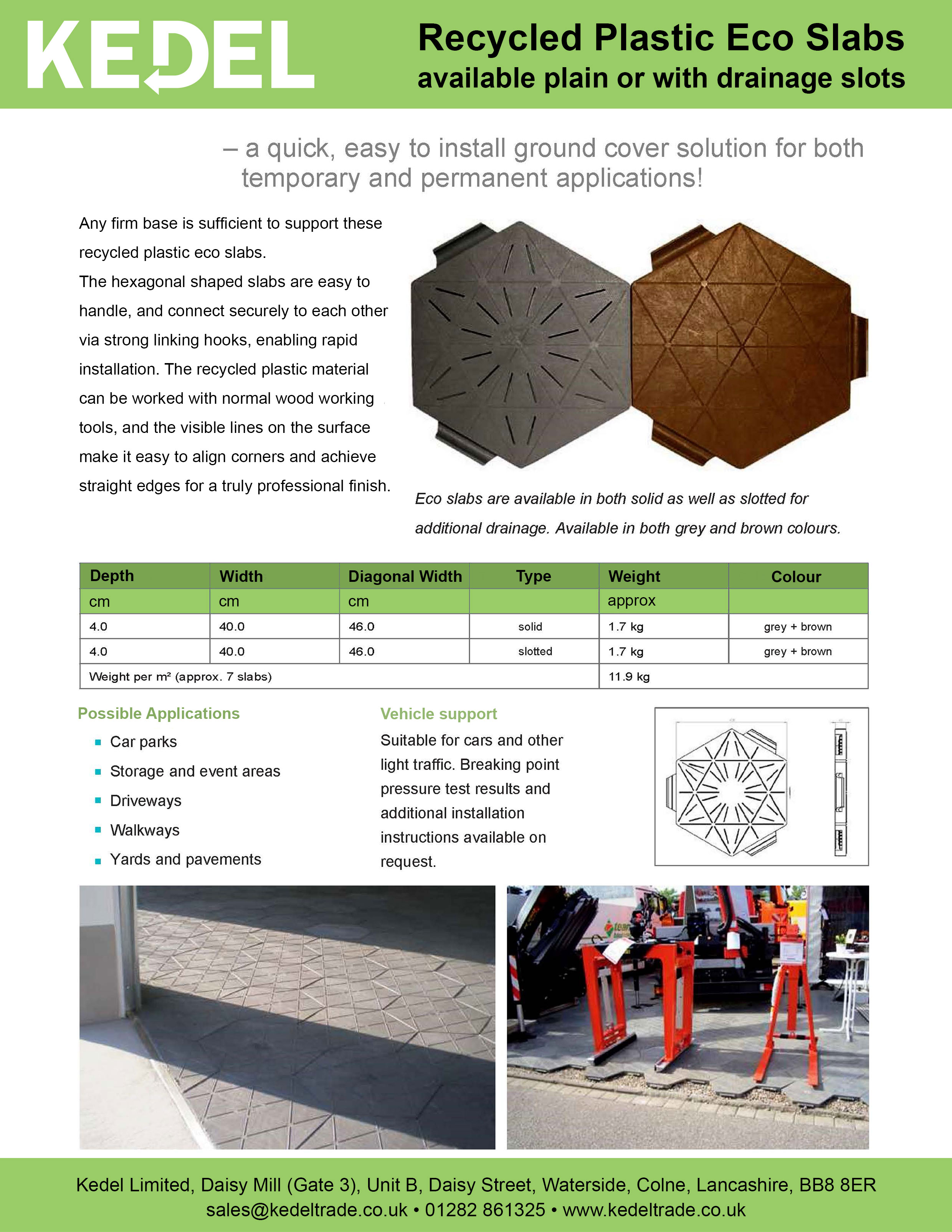 Octagonal Slab technical spec