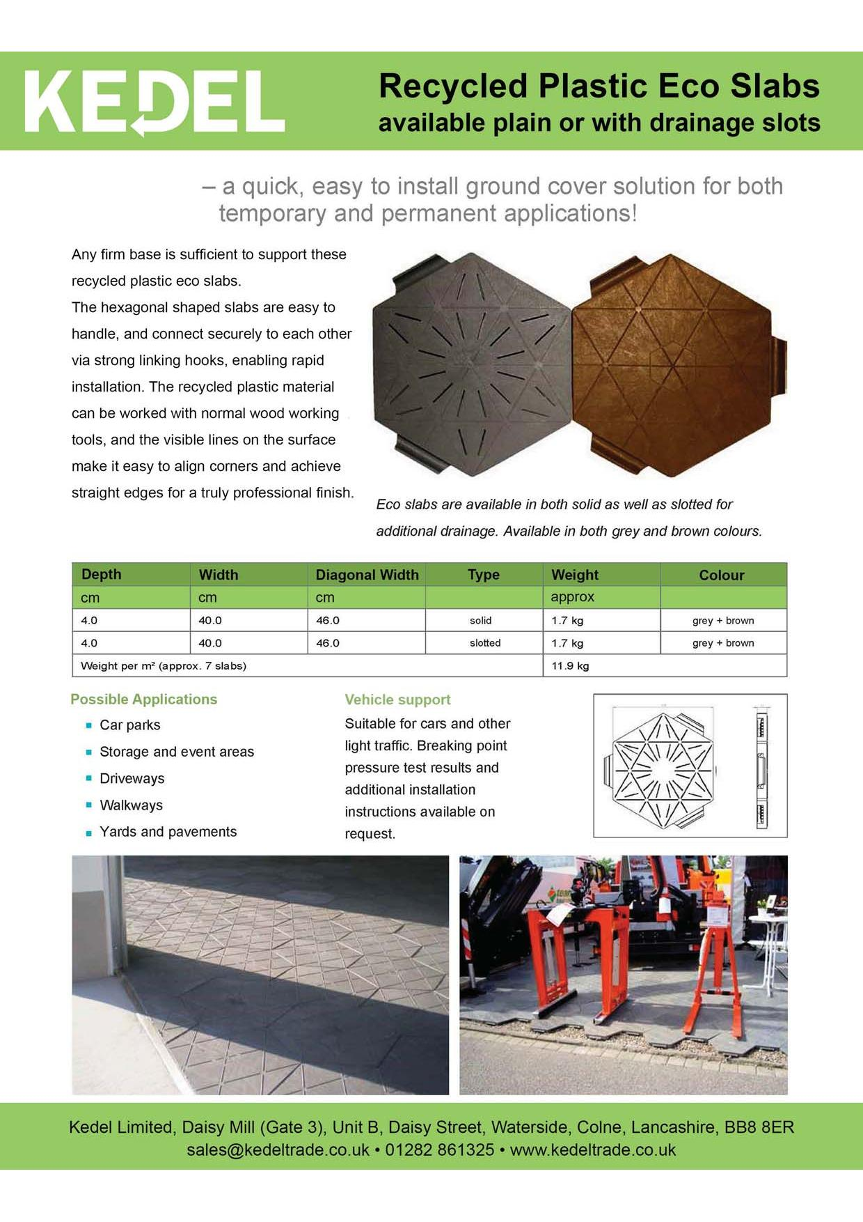 Eco-Slab paving leaflet