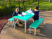 Kedel Eco Table Recycled Plastic Childrens Outdoor Playground Furniture