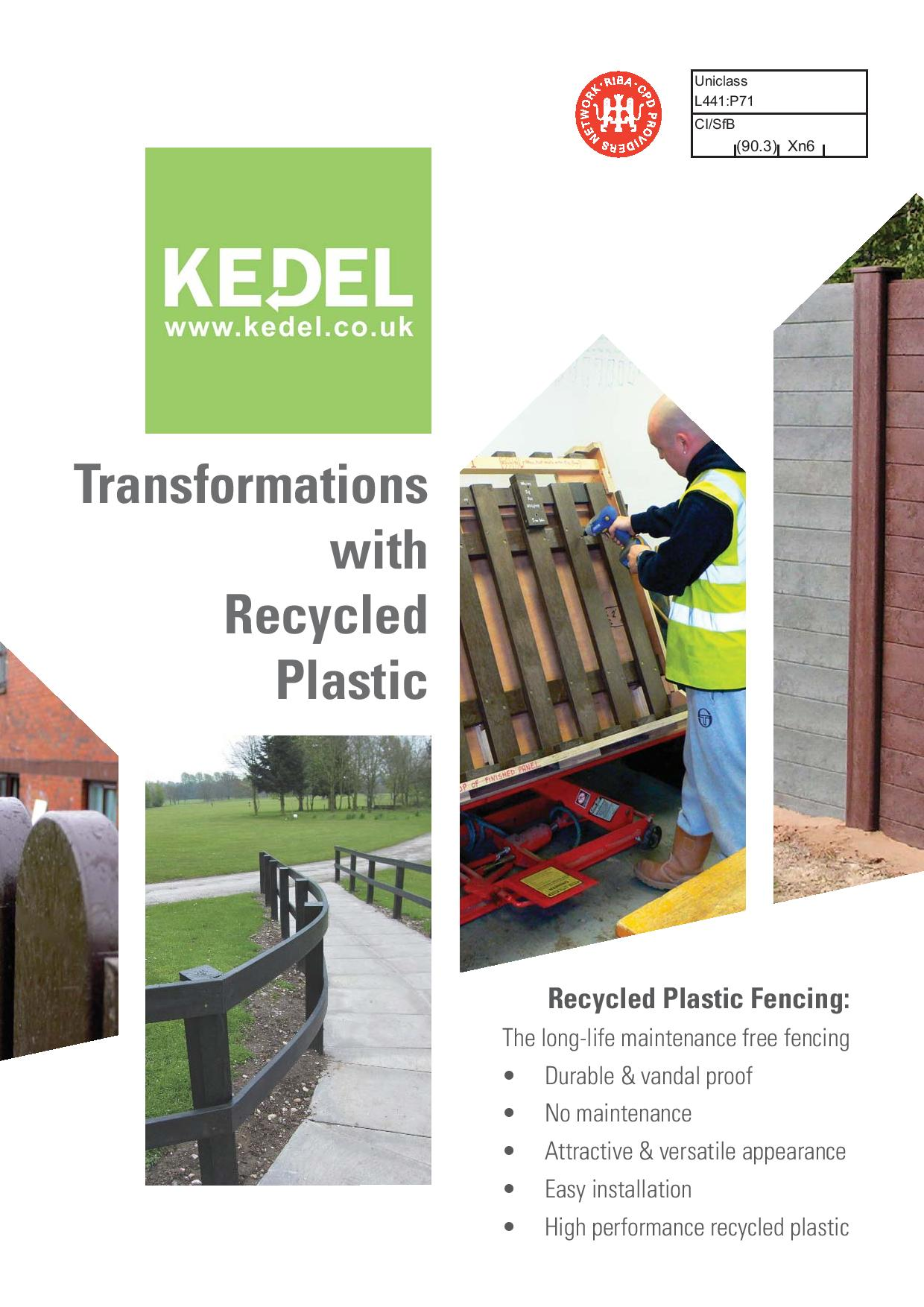 Fencing - transforming with recycled plastic - key advanta... & tec spec