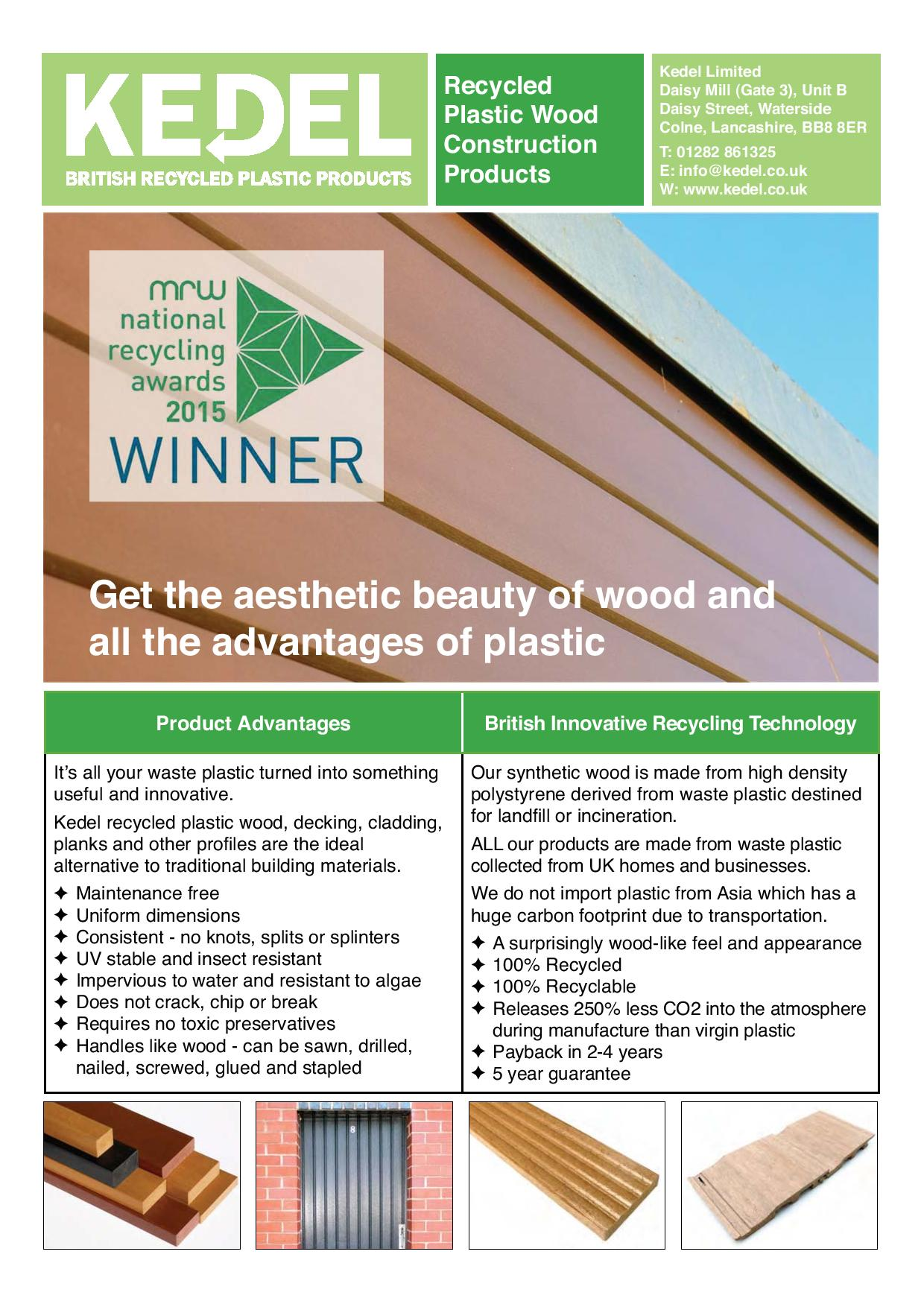 Plastic wood - key advantages & product range