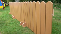 Maintenance Free Recycled Plastic Fence Panel School Playground