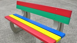 Rainbow Colne Seat Outdoor Furniture Kedel Park Garden School Playground