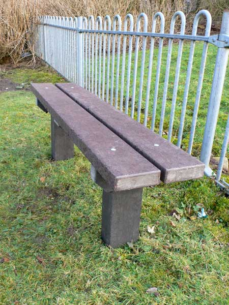 Recycled Plastic Seat Bench from Kedel Limited
