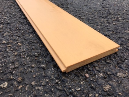 Recycled Plastic Tongue & Groove | Orange | 125mm x 15mm x 1.5m