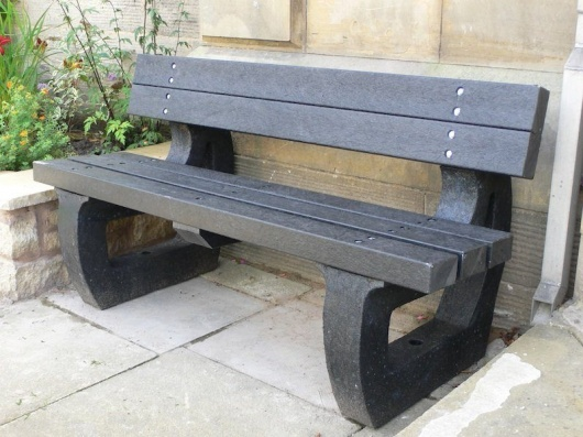 Recycled Plastic Garden Bench 3 Seater Colne by Kedel