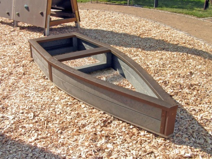 Children's Recycled Plastic Adventure Ship | Sand Box /  Raised Bed
