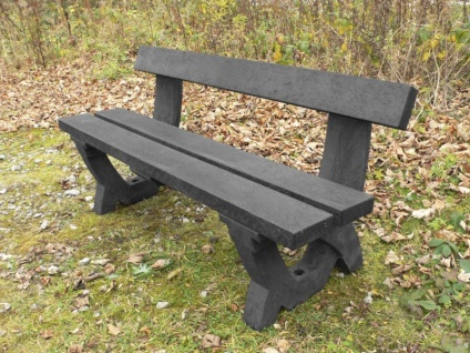 Clyde 4 Seater Bench - Recycled Plastic