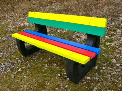 Colne Rainbow Bench | Garden Bench | Multicoloured | Recycled Plastic