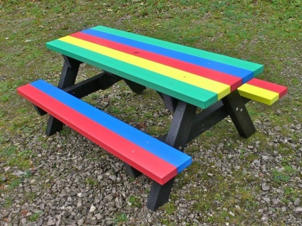 Junior Multicoloured Picnic Table | Ribble Range | Recycled Plastic