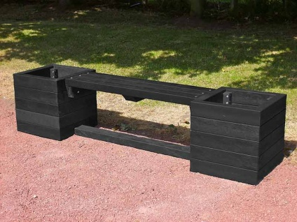 Ribble Planter Bench Recycled Plastic Education