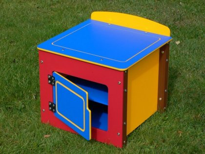 Children's Play Fridge - Single Kitchen Unit - Multicoloured Recycled Plastic