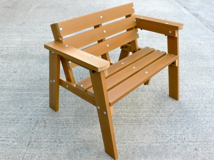 Thames Garden Bench - 2 seater - Recycled plastic wood
