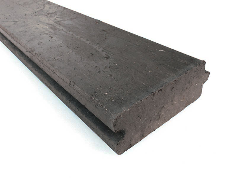 Composite Plastic Lumber : Recycled mixed plastic tongue groove plank board