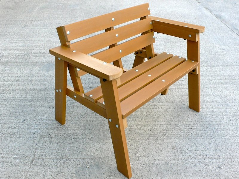 Fresh Thames Garden Bench - 2 seater - Recycled plastic wood Education FV18