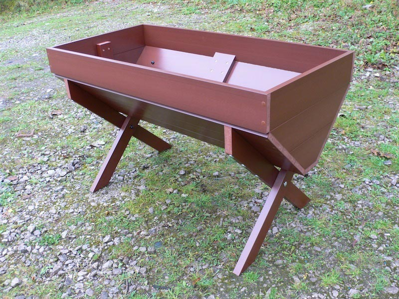 Cradle Bed Planter Recycled Plastic Plastic Wood