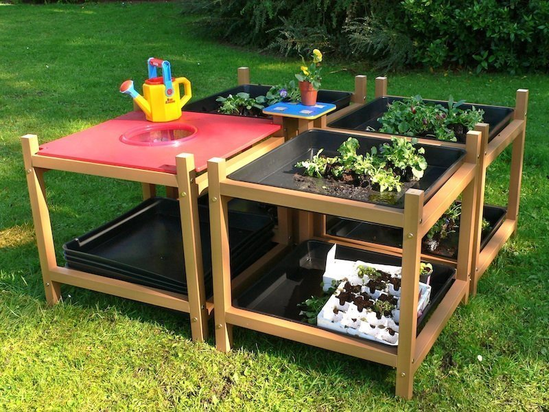 Children S Gardening Exploration Table Set Of 4