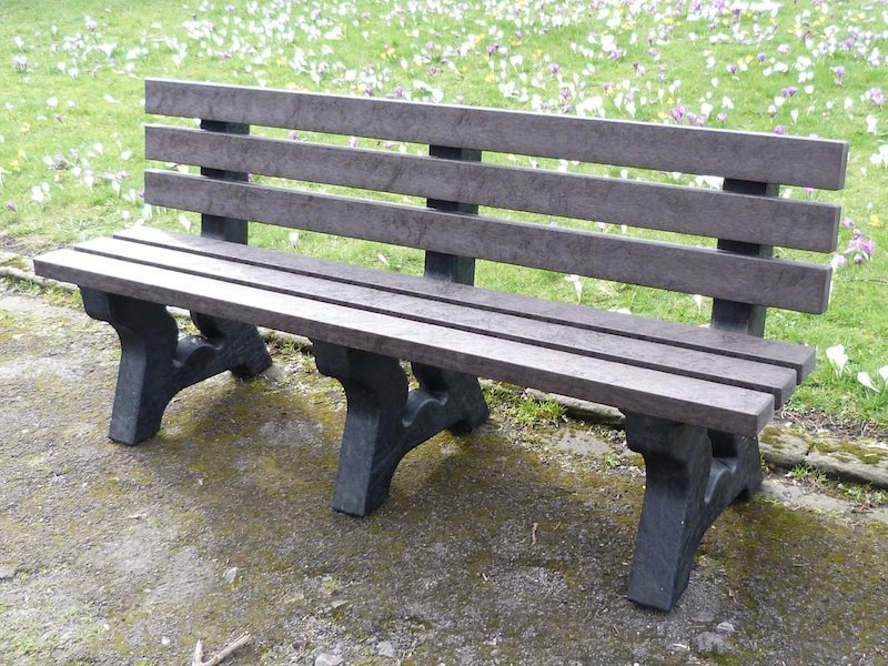 Irwell 4 Seater Recycled Plastic Garden Bench Education