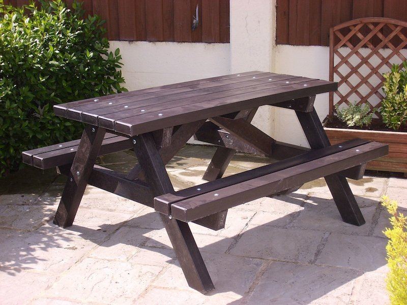 Ribble Picnic Table Recycled Plastic Education