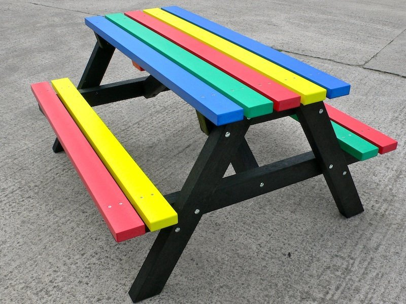Multicoloured Picnic Table Furniture Range Recycled