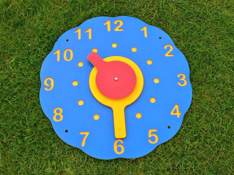 Wall Clock Multicoloured Recycled Plastic Education