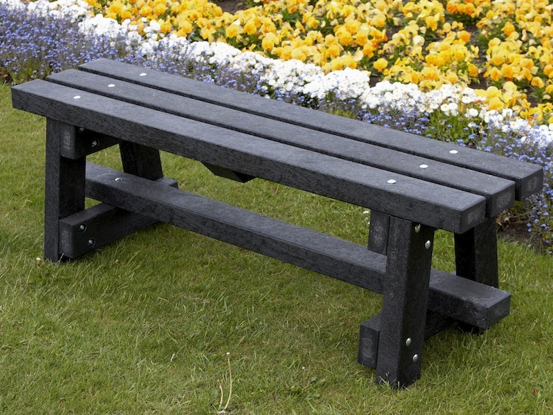 Ribble Bench Without Backrest Recycled Plastic Education