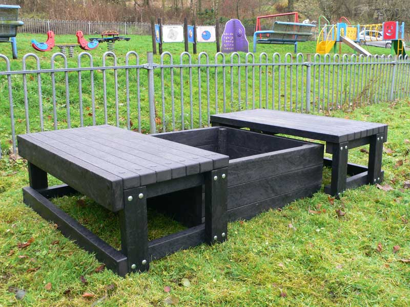 Sand Pit With 2 Seats Recycled Plastic Education