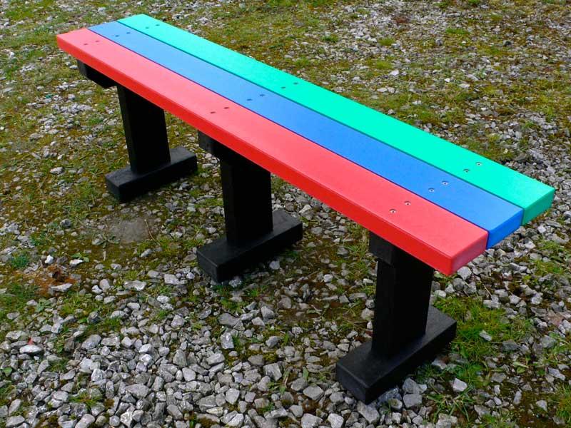 Multicoloured Tees Bench Garden Park No Back