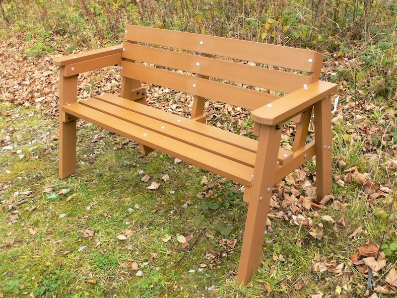 Recycled Plastic Garden Bench 3 Seater Education