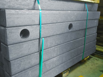Recycled Mixed Plastic Paddock Rail, End Post 120 x 120