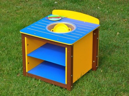 Children's Play Sink - Single Kitchen Unit in Multicoloured Recycled Plastic