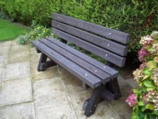 Ribble 3 seater Garden bench - with backrest