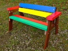 Thames Children's Multicoloured Bench
