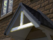 Canopy/Porch Pediment | Plastic Wood | Recycled Plastic