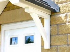 Pair of Recycled Plastic Porch Gallows Brackets | Synthetic Wood