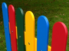 Multicoloured Recycled Plastic (HDPE) Fence Pales - Round Top