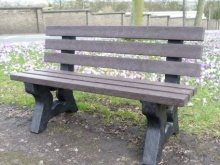 Irwell 3 seater recycled plastic garden bench