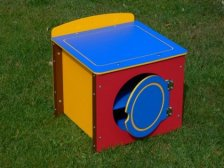 Children's Play Washing Machine - Single Kitchen Unit - Multicoloured Recycled Plastic