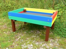 Rainbow Coloured Raised Planter | Recycled Plastic Wood