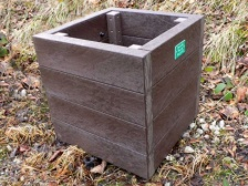 Ribble Cube Planter - Recycled Mixed Plastic