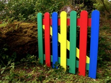 Multicoloured Plastic Picket Wood Gate | Recycled Plastic